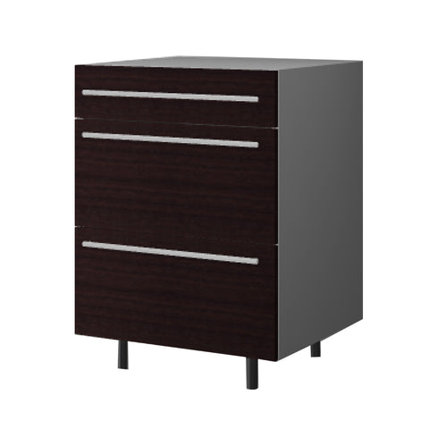 60 Cm. Wengee Mali Base Unit 3 Drawers