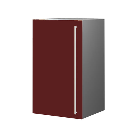 45 Cm. Burgundi High Gloss Upper Unit With Shelf Left