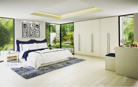 Dieci Bedroom Hacienda white Body White laminated Chipboard
