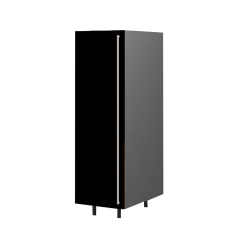 45 Cm. Black High Gloss  Medium Tall Unit With Shelf Left