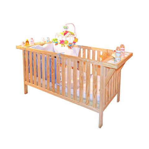 Shelvy Baby Bed With Shelves 64 x1 25 x 88