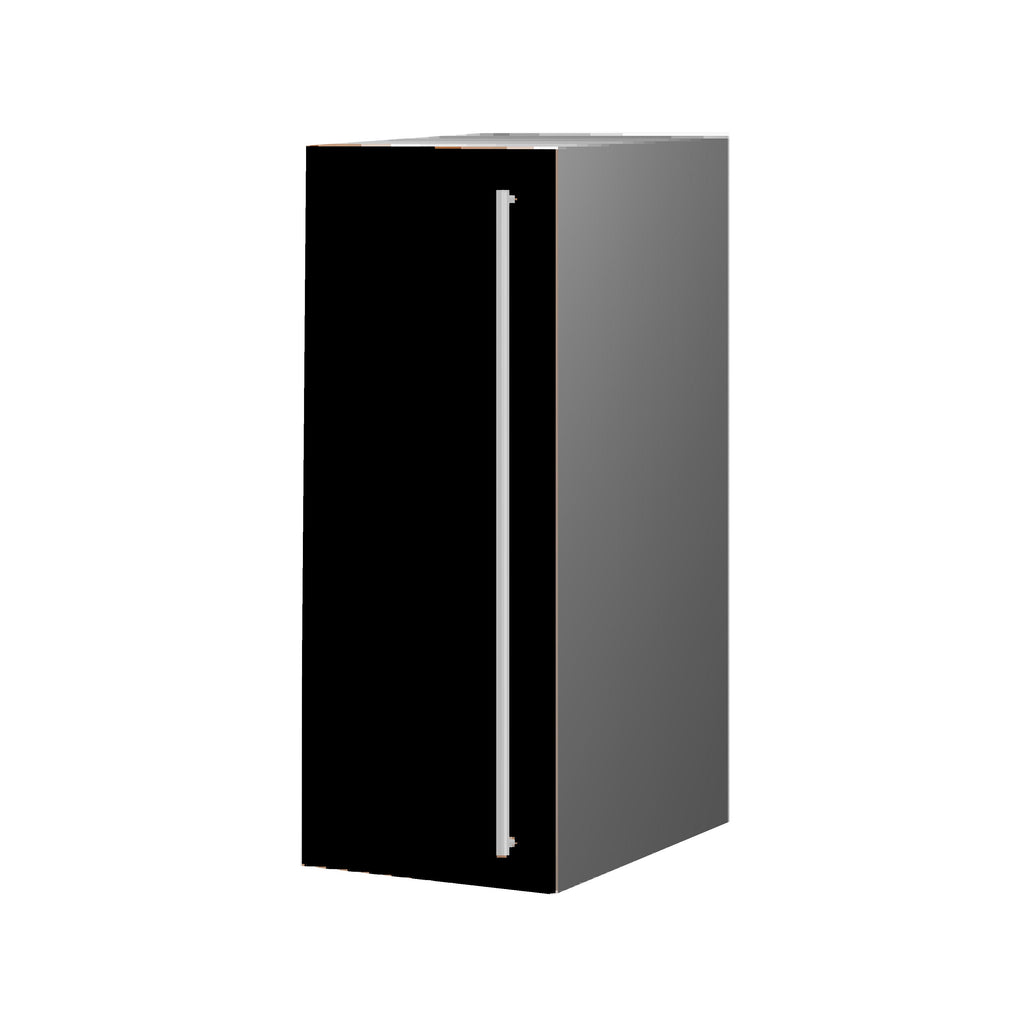 30 Cm. Black High Gloss Upper Unit With Shelf Left