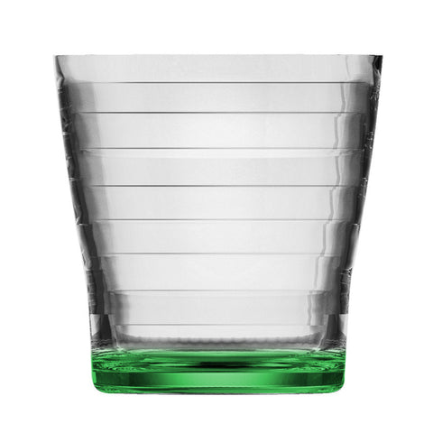 Vortex  Bottom Painting Ribbed CUP   H 9.0 T 8.5 CL 29  Green