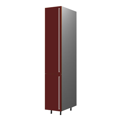 40 Cm. Burgundi High Gloss Tall Unit With Shelfs Left