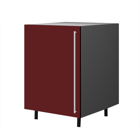 60 Cm. Burgundi High Gloss Base Base Unit With Shelf  Left