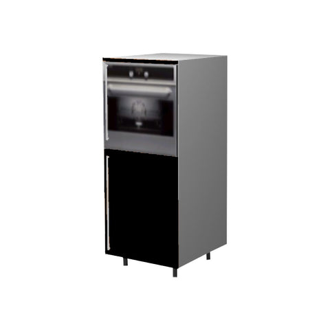 60 Cm.  Black High Gloss Medium Base Oven Unit Right