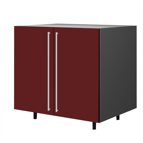 90 Cm. Burgundi High Gloss Base Unit With  Shelf & 2 Doors