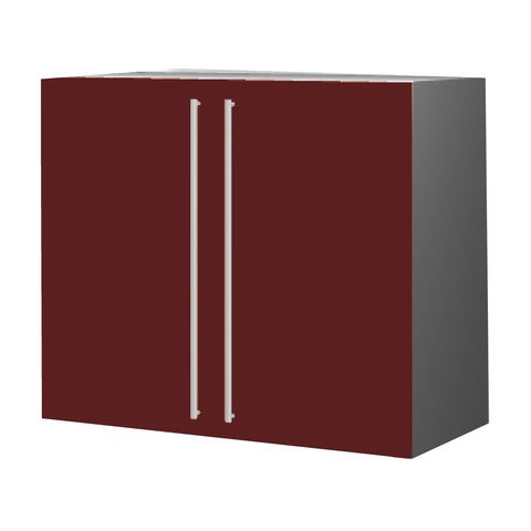 90 Cm. Burgundi High Gloss Upper Unit with Shelf & 2 Doors