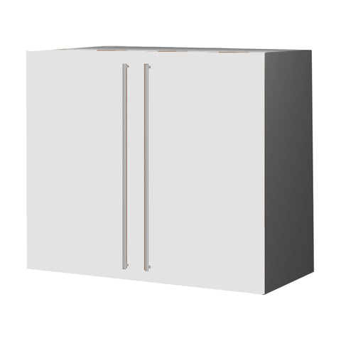 90 Cm. White High Gloss Upper Unit with Shelf & 2 Doors