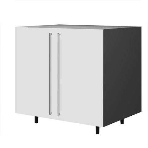 90 Cm. White High Gloss Base Unit With Shelf & 2 Doors