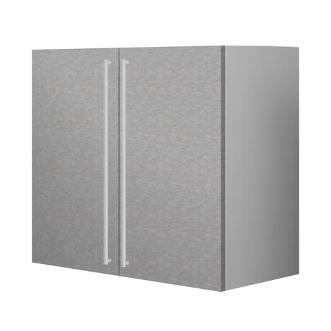 90 Cm. Grey Wave Upper Unit with Shelf & 2 Doors