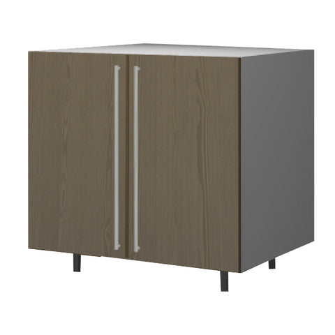 90 Cm. Champagne Avola Base Unit With Shelf 2 Doors