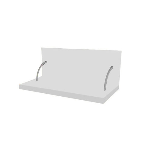 90 Cm. White Laminated Spices Shelf With Cladding