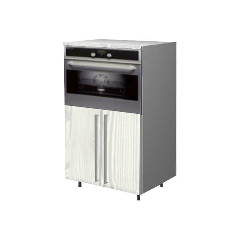 90 Cm. Hacienda White Medium Base Oven Unit With Shelf 2 Doors