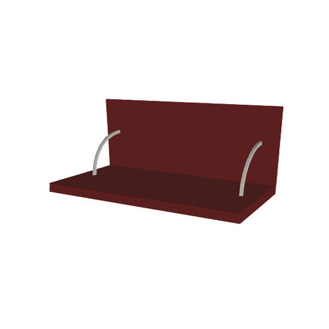 90 Cm. Burgundi High Gloss Spices Shelf With Cladding