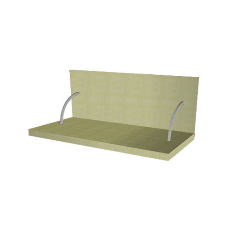 90 Cm. Greenish Spices Shelf With Cladding