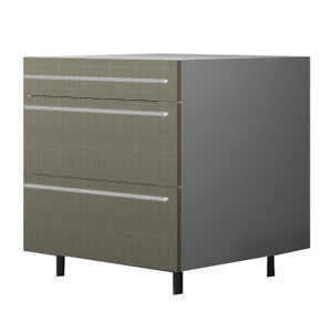 90 Cm. Grey Brown Avola Base Unit 3 Drawers