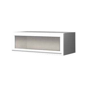 90 Cm. Top Box Plexi Frame Aluminum (DISHES)