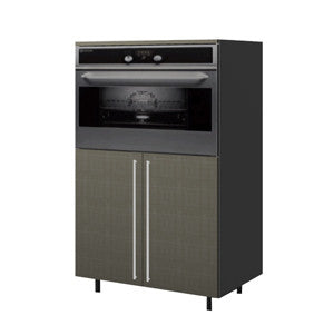 90 Cm. Grey Brown Avola Medium Base Oven Unit