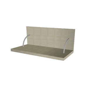 90 Cm. Grey Brown Avola Spices Shelf With Cladding