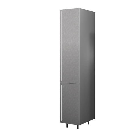 40 Cm. Grey Wave Tall Unit With Shelves Right