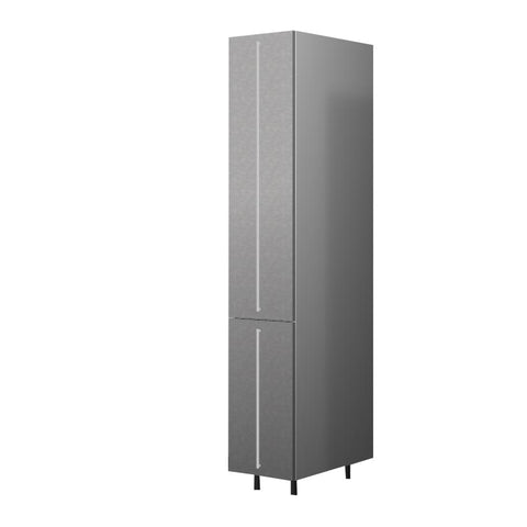 40 Cm. Grey Wave Tall Pullout Unit With Drawers