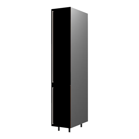 40 Cm. Black High Gloss Tall Unit With Shelfs Right