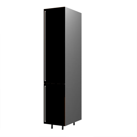 45 Cm. Black High Gloss  Medium Tall Unit With Shelf Right