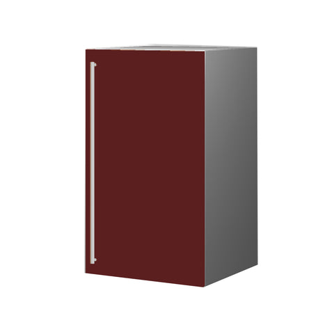 45 Cm. Burgundi High Gloss Upper Unit With Shelf Right