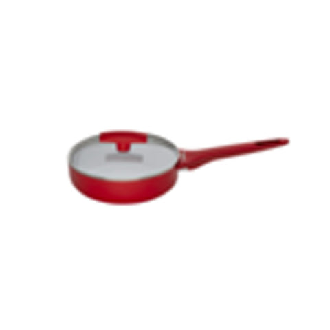CERAMIC SAUCEPAN 1-HANDLE 16 CM + GLASS LID