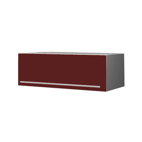 90 Cm. Burgundi High Gloss Top Box Upper Unit