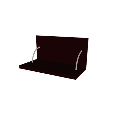 60 Cm. Black High Gloss Spices Shelf With Cladding