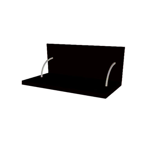 90 Cm. Black High Gloss Spices Shelf With Cladding