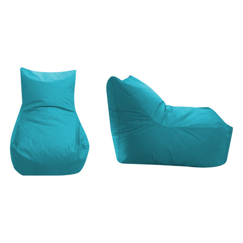 65 Cm. Bean Bag Chair Light Blue Velvet