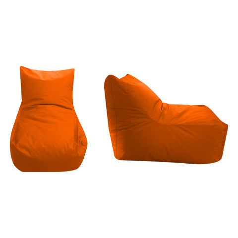 65 Cm. Bean Bag Chair Orange Velvet