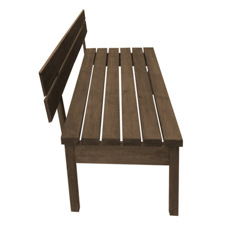 "Out Door Picnic X1 ""Unpainted"" Bench With Back Pine wood"