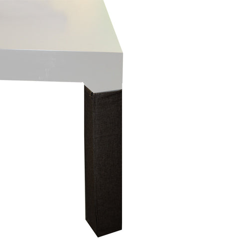 trio dining leg cover Black Leather Effect