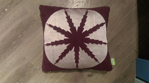 CUSHION FLAKE FALL LARGE Violet/Mauve