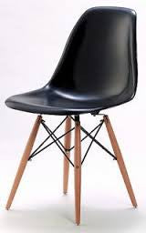 Chair - ABS  material and beech wood legs black