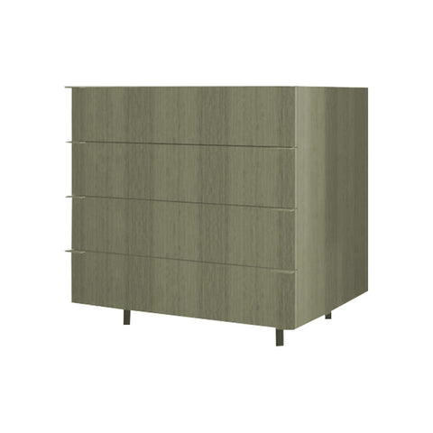 90 Cm. Grey Brown Avola Drawers Unit with 4 Drawers