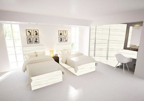 Duo Three Bedroom Hacienda White Body White laminated Chipboard