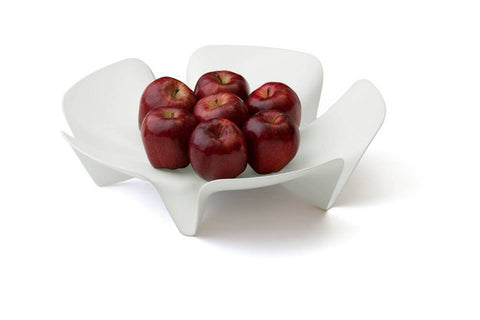 Flower Fruit Tray (L) White