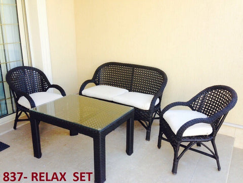 Out Door Relax Chairs Dark Brown