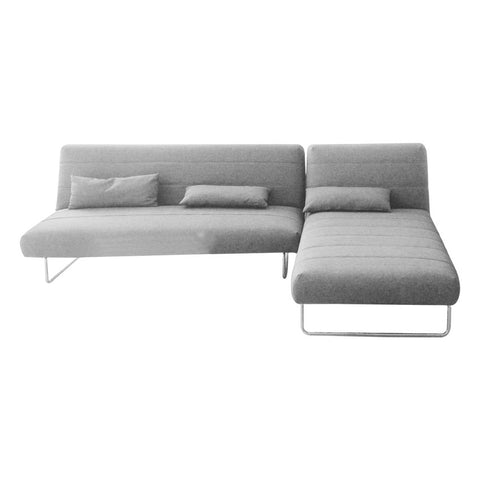 3S-sofa bed dark grey chaise.lounge 89*180*80