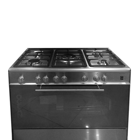 OCEAN 90 Cm. Cooker+Oven+Grill+Fan distribution+Electronic Ignite with 5 Eyes