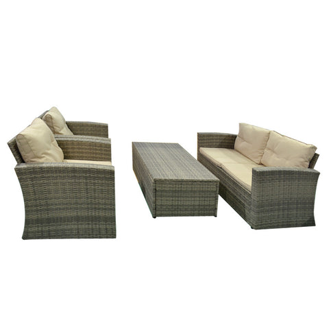 Out door Rattan sofa set w.one cushion box