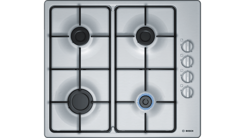 60cm gas cooktop, stainless steel BOSCH