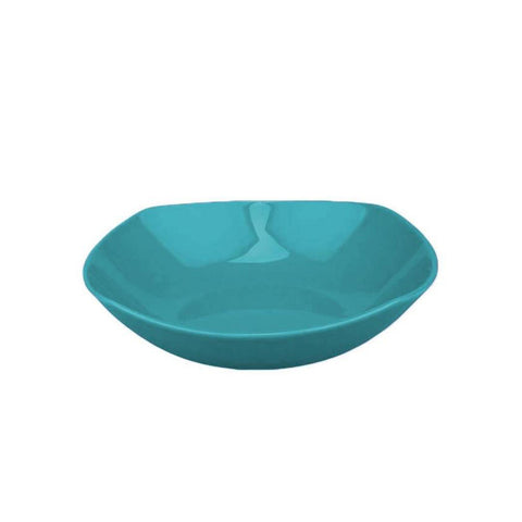 NC SEMI ROUND 20 CM DEEP PLATE (TURQUOISE-PRISMA)