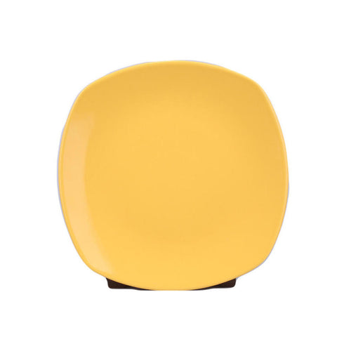 NATURAL CERAMIC 28 CM FLAT PLATE YELLOW PRISMA