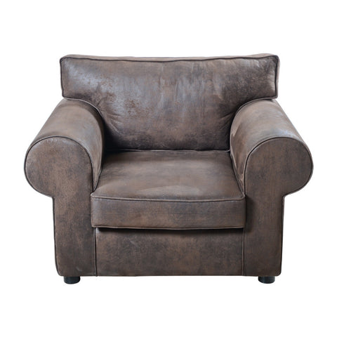 S Sofa 120 Leather Effect Brown SOHO9
